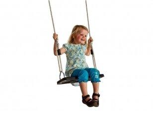 Guminė sūpynių sėdynė su virvėmis