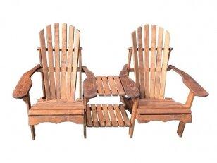 Kanadietiško stiliaus dviguba kėdė