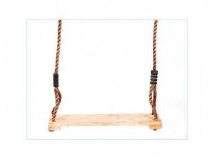 Medinė sūpynių sėdynė