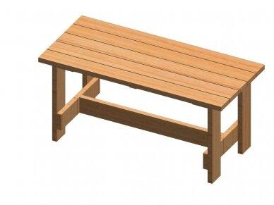Medinis lauko stalas 3