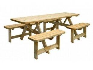 Stalas sujungtas su suolais 2.4 m